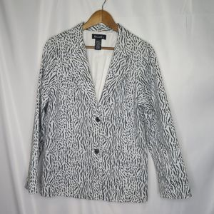 Denim & Co. fully lined 2 button blazer size M